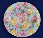 Chintz ROSES on BLUE Floral Plate - Baum Brothers Formalities