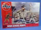 Plastic Toy Soldiers Airfix 1/32 Scale WWII Afrika Korp 14 Unpainted Figures