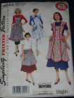 Aprons 1948 & 1952 Styles Reprinted Vintage Simplicity 3544 Sewing Pattern