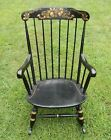 Nichols & Stone Co Black Stenciled Wood Rocking Chair. pickup In CT, NY, or NJ
