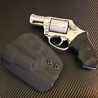 Custom Black Kydex IWB holster for Charter Arms Undercover On Duty 38 Special