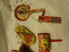 4 Tin Noise Makers By Metal Toy Mfg Ny !!!