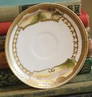 3 VINTAGE LANDSCAPE SCENE HAND PAINTED JAPAN LUSTRE PORCELAIN TRADE MARK SAUCER