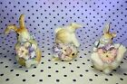 Fitz and Floyd Halcyon 63/142 Set of 3 Ceramic Bunny Rabbits Bunnies Tumblers