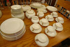 W.H. Grindley Lot of 77 pcs Dinnerware Set in White Gold Pattern 1914-25 Antique