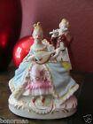 Antique Victorian German-Porcelain A Couple Man/Woman Play Music Instruments