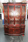 MARSHALL FIELD & COMPANY ANTIQUE VINTAGE BREAK FRONT HATCH-CURIO CHINA CABINET