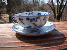 antique chinese blue and white underglaze porcelain tea cup and saucer