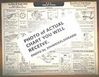 1933 LaSalle EIGHT Series 345C-V8 Models AEA Tune Up Chart Sheet LAMINTAED!