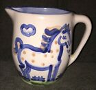 Hadley Pottery Pitcher Horse Handmade Artist Collectible Vintage MINT 5.25