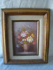Original Oil Painting by Robert Cox Signed Flowers Bouquet Framed 10x12  331501