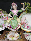 DRESDEN PORCELAIN VICTORIAN LADY FIGURINE LARGE 9