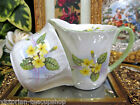 SHELLEY OLEANDER SHAPE  CREAMER AND SUGAR LARGE SIZE PRIMROSE PATTERN