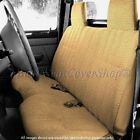Custom Fit Triple Stitched Thick Small Pickup Truck Bench Beige Seat Cover