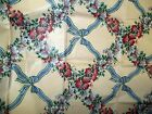 Vintage Waverly 100% Cotton Screen Print Fabric Flowers and Bows 2 yards 54