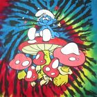 SMURFS TIE DYE MUHSROOMS HIPPY PSYCH PSYCHEDELIC HIPSTER INDIE T SHIRT XL