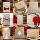 Gold Custom Personalized Printing Wedding Invitation Cards with Envelopes Seals