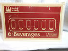 Anchor Hocking Beverage Glasses set of 6 Gold in the original box New never used