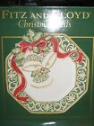 Fitz and Floyd Christmas Bells Snack Canape Plate
