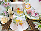 SHELLEY LARGE  CREAMER AND SUGAR HOLDER FLORAL URN GARDEN