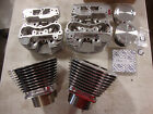 S&S FULL POLISH SSW+ 117 TOP END KIT CYLINDERS HEADS PISTONS & RINGS 4 1/8