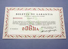 New old stock DOGMA guarantee warranty card paper 50/60s blank garantía NOS gree