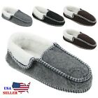 New Womens House Shoes Soft Warm Fleece Suede Cotton Slip on Indoor Slippers