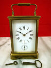 Antique French Carriage Alarm Clock w Gong