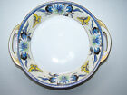Vintage Noritake Signed Blue and Yellow Flower and Butterfly Gilt Trim Bowl Dish