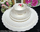 SPODE TEA CUP AND SAUCER 6 PSC DINNERWARE SETTING  MOSS ROSE SPODES JEWEL