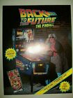 1990 Data East BACK TO THE FUTURE Pinball Flyer!