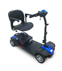 EV Rider MiniRider Power Mobility Scooter 4 Wheel Travel Compact Scooter Blue