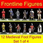 12 Frontline Figures Medieval Metal Toy Soldiers 54mm