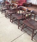 Vtg Ethan Allen General's Armchair Antiqued Old Tavern Pine Collection 12-6000