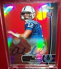 2012 15 Andrew Luck Topps Finest Rookie Autograph Red Refractors # 110 RC Auto