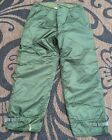 Vtg US NAVY Extreme Cold Weather Pants Trousers Impermeable Pants Size L (35-38)