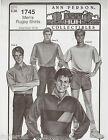 Ann Person Collectibles Men's Rugby Shirts Pattern 1745 Chest Size 34-48 Uncut