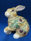 Blackberry Rabbit Paw Up Bunny Cookie Biscuit Jar Canister Fitz Floyd New