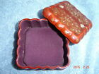 Vintage Trinket Box with Padded Felt Lining by Lacquerware (Occupied Japan)