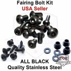 Black Fairing Bolt Kit Body Screws Fasteners for Yamaha YZF 600R 1997-2006