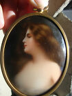 Antique      Porcelain Plaque Wagner