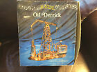 Vintage Tin & Copper MUSICAL OIL DERRICK Music Box Works Great in original box