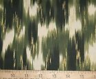 BTY~100% Cotton Quilt Fabric~Olive Green with GOLD Metallic~ Robert Kaufman