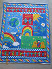RARE LOVE ONE ANOTHER 1996 FABRIC PANEL QUILT or Wall Hanging Fabric Traditions