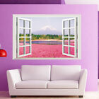 Floral 3D Window View Removable Art Wall Sticker Decal Mural DIY Home Room Decor