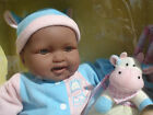 BERENGUER Berjusa 15 NRFB BABY DOLL plus Stuffed Animal COW with Carrier