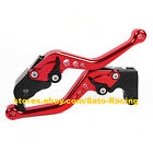 CNC Short Brake Clutch Levers Set For Honda CBR125R CBR150R 2004-2012 Red 05 06