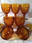 Vintage Mid Century Retro Indiana Glass Tiara Wine Goblets set of 7