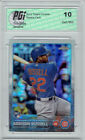 Addison Russell 2015 Topps Chrome Prism Refractor Rookie Card #24 PGI 10