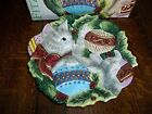 Fitz and Floyd Canape Plate Kristmas Kitty Christmas Cat NIB